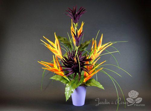 Arrangement fleurs artificielles