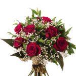 Une douzaine de roses rouges et soupir de bébé