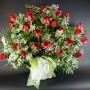24 Roses rouges avec soupir de bébé
