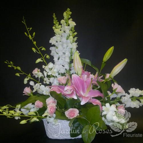 Lys, muflier et orchidées