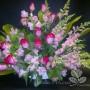 Roses, alstromerias et mufliers