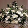 Arrangement fleurs funéraire
