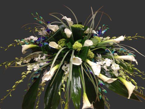Gerbe de fleurs de cercueil