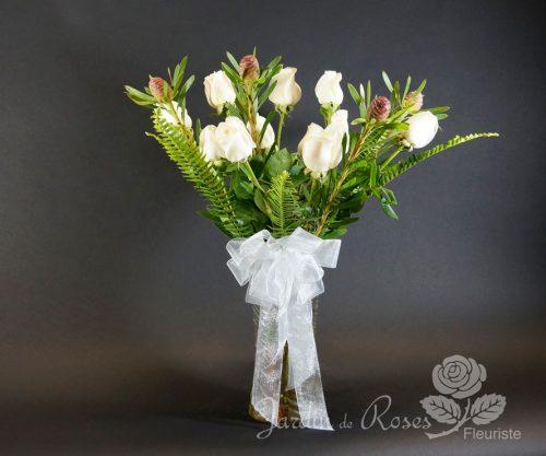 Douzaine de roses colorées