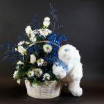 Arrangement de fleurs naissance 06