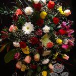 Gerbe murale de fleurs 42