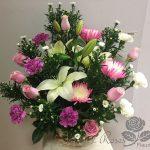 Panier de fleurs 28