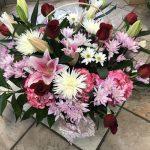 Panier de fleurs 30